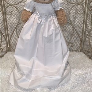 NWT BAPTISM-CHRISTENING GOWN WITH MATCHING BONNET